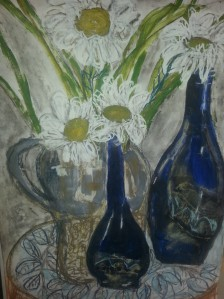 Still Life, Blue Bottles