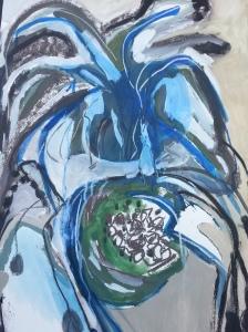 blue detail botanical